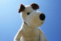 Toy dog. Against the sky Royalty Free Stock Image