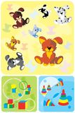 Toy dog background Stock Photos