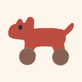 Toy dog flat icon elements,eps10 Royalty Free Stock Photos