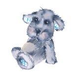 Toy Dog Isolato su priorità bassa bianca Fotografia Stock Libera da Diritti