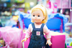Toy doll in a store Stock Images