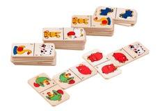 Toy domino on white Royalty Free Stock Photos