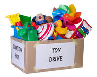 Toy donation box Stock Image