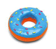 Toy Donut. Squeaky Blue Donut with Sprinkles Isolated on White Background Royalty Free Stock Photos
