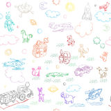 Toy doodles Stock Images