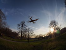 Toy Drones. Do toy drones violate our right to privacy and should they be regulated by the government stock photos