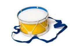 Toy drum. On white background Royalty Free Stock Photos
