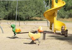 Toy Duck e tartaruga Fotos de Stock Royalty Free