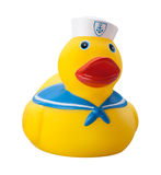 Toy Duck Float isolou-se Fotos de Stock
