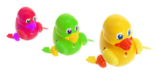 Toy Ducklings Royalty Free Stock Photography