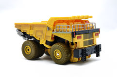 Toy Dump truck. Over white background Stock Image