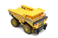 Toy Dump truck. Over white background Royalty Free Stock Photo