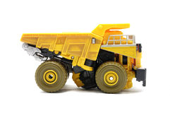 Toy Dump truck. Over white background Royalty Free Stock Photography