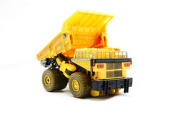 Toy Dump truck. Over white background Royalty Free Stock Photos