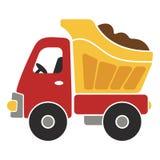 Toy Dump Truck Cartoon Vector illustration f?r ungar royaltyfri illustrationer