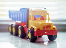 Toy Dump Truck Close up Stock Photo