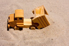 Toy Dump Truck Dumping Sand Stock Photography