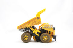 Toy Dump truck. Over white background Royalty Free Stock Images