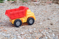 Toy dump truck. Stock Images
