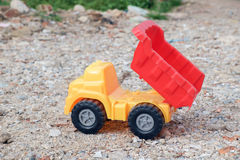 Toy dump truck. Royalty Free Stock Photography