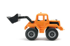 Toy Earth Mover. On White Background Stock Photos