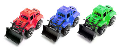 Toy Earth Movers Stock Photography
