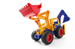 Toy Earthmover. On white background Stock Photography