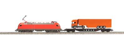 Toy Electric Locomotive Stock Photo