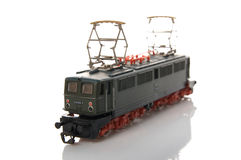 Toy electric locomotive Royalty Free Stock Images