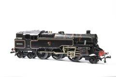 Toy Electric Model Train på vit bakgrund Royaltyfri Bild
