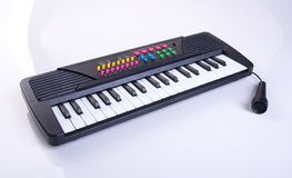 toy electronic keyboard or Children toy piano. Royalty Free Stock Photos