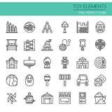 Toy Elements, línea fina Fotos de archivo
