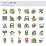 Toy Elements, línea fina Fotos de archivo libres de regalías