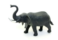 A toy elephant. On white background Royalty Free Stock Photography