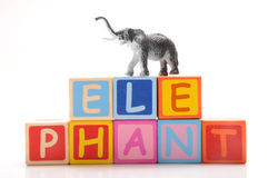 Toy elephant Stock Images