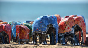 Toy Elephants Stock Photography