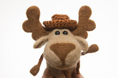Toy elk in a gift Stock Photo