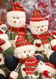 Toy elves Christmas ornaments. Royalty Free Stock Photo