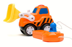 Toy excavator Royalty Free Stock Images