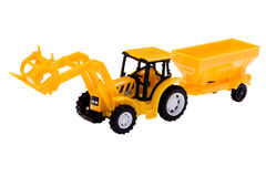 Toy excavator close up Royalty Free Stock Image