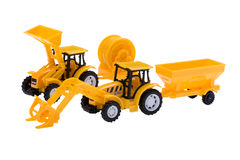 Toy excavator isolated Royalty Free Stock Photos