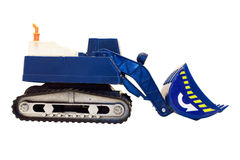 Toy excavator isolated Royalty Free Stock Images