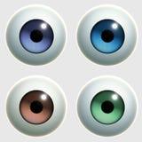 Toy eye. 3 d cartoon toy eye Stock Image