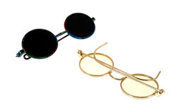 Toy eyeglasses and sunglasses Stock Photos
