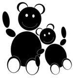 toy för björndiagramillustration Arkivfoton