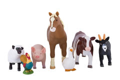 Toy Farm Animals Stock Photo