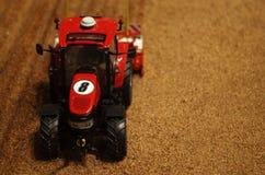 Toy farm tractor Stock Photos