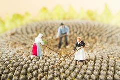 Toy farming people Stock Photography