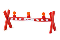 Toy fence Fire Royalty Free Stock Photos