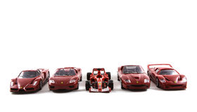 Toy Ferrari Cars Royalty-vrije Stock Fotografie
